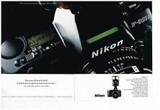 Publicité Advertising 1991 (2 pages) Appareil photo Nikon F-801S