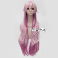 K Project NEKO 100cm Long Wavy Mixed Pink Heat Resistant Anime Cosplay Wig