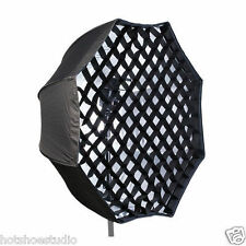 "95 cm 37"" Octagon Umbrella Softbox Brolly Reflector with Grid For Speedlite"