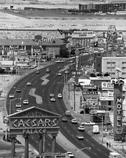 1967 LAS VEGAS STRIP Glossy 8x10 Photo Casinos Print Caesars Palace Poster Sands