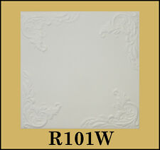 Tin-Look Styrofoam Ceiling Tiles Easy Installation - R101W