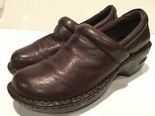 Boc Born Concept Women's Brown Leather Loafer/Clogs Shoes Size 8.5 M