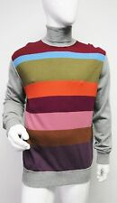 New 1,166 Dolce & Gabbana Mens Multi Striped Turtleneck Cashmere Sweater 56 US46