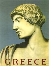 TRAVEL GREECE BUST GREEK PAINTING CLASSICAL ART POSTER PRINT LV4041