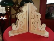 one pair rustic 1890ts  style Victorian  real  wood corbels   8 x  12