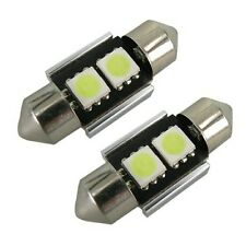 2x 30-31mm FESTOON LIGHT BULB CANBUS NO ERROR XENON 2 LED WHITE 269 c5w SV8.5