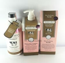 Beauty Buffet Scentio Glutathione White Set Bath Cream,Body Lotion,Scrub