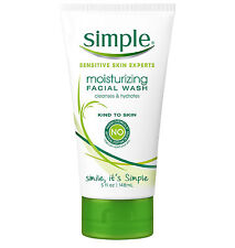 Simple Sensitive Skin Moisturizing Facial Wash Cleanser, 5 fl oz