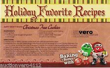 2014 magazine ad M&M's Recipes Booklet mms M&M cookies brownies nutella print