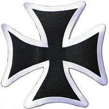 Maltese Iron Cross Heavy Metal Biker Rider Big XL Embroidered Back Patch 9.8""