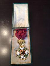 Belgium order of Leopold - officer cross in gold - 1860 / 1870