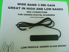 HIDDEN GLASS WINDOW MOUNT ANTENNA FOR UNIDEN HOME PATROL BCD396 DIGITAL SCANNER