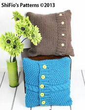 KNITTING PATTERN for SUPER CHUNKY CUSHION COVERS # 267 by ShiFio's Patterns