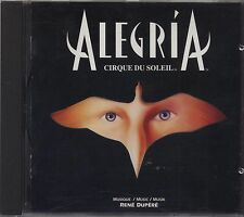 CIRQUE DU SOLEIL - Alegria - RENE' DUPERE' CD 1994 NEAR MINT CONDITION