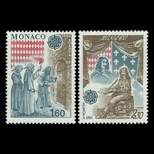 "Monaco 1982 - EUROPA Stamps ""Historic Events"" Art - Sc 1329/30 MNH"