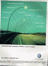 Publicité advertising 2007 VW Volkswagen Golf TDI