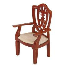 Classic Wooden Furniture Chair Armchair for 1:12 Dollhouse Living Room Accs