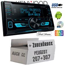 Peugeot 207 307 Kenwood 2DIN USB CD MP3 Autoradio KFZ PKW Einbauset Auto Radio