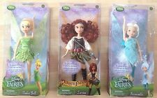 DISNEY FAIRIESFLUTTER WING DOLL SET TINKERBELL, ZARINA AND PERIWINKLE-NEW