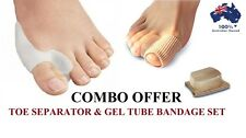 COMBO DEAL - Gel Bunion Protector Toe Straightener Separator Alignment Bandage