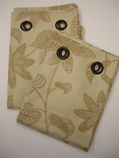 NEXT BALI LIFE STAR ANISE PRINT EYELET LINED COTTON CURTAINS 228cm X 229cm