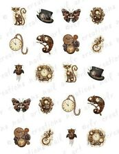 20 Nail Decals STEAMPUNK ASSORTMENT * Unique Steam Punk  Waterslide Nail Art