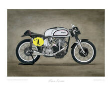 Motorcycle Limited Edition Print - Manx Norton - Classic British Bike Poster Art