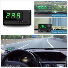 Vehicles HUD Digital Speedometer Head UP LCD Display Projection Overspeed Alarm