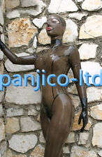Latex Rubber Gummi Gray smoke Catsuit Maske Ganzanzug Suit Bodysuit Size XS-XXL