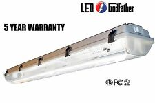 NEW LED Utility Shop Light 4' Ft 44-Watts Instant-On 5,380 Lumens Garage Bright!