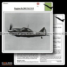 #048.10 REGGIANE RE 2001 FALCO II - Fiche Avion Airplane Card