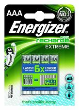 Energizer 800mAh AAA Rechargeable 4 Pack Extreme HR03 MN2400 NiMh Batteries