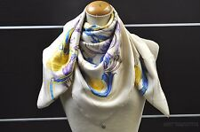 "Authentic HERMES Scarf ""LA MORS A LA CONETABLE"" Silk Beige 28272"