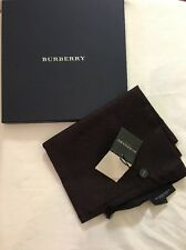 NEW NWT BURBERRY LONDON Navy Red Maroon Silk Scarf Nova Check Italy Long Logo