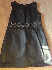 Stunning Leather Look Black Dress By Be Beau. Size 16
