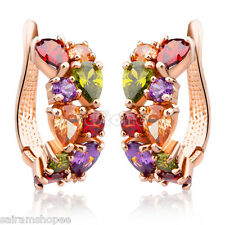 Valentine18kGold Plated swarovski elements high Grade Cubic Zircon Stud Earrings