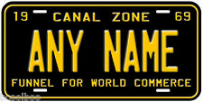Panama Canal Zone 1969 Any Name Number Novelty Car License Plate