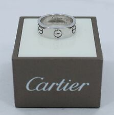 Cartier Love Collection Ring 18k White Gold Size 49 (5) *MINT CONDITION*
