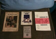 LOT of 4 VTG HTF First Aid Guides Prudential, BSA, Met Life, Civil Defense