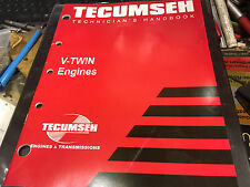 TECUMSEH V-TWIN SMALL ENGINE PARTS TECHNICIANS HAND BOOK REPAIR MANUAL SHOP BOOK