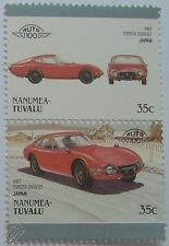 1967 TOYOTA 2000 GT Car Stamps (Leaders of the World / Auto 100)
