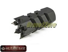 Airsoft Tromix Shark Muzzle Brake Style Flash Hider 14mm Counter-Clockwise CCW