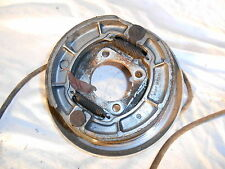 1986 86 KAWASAKI 300 KLF BAYOU RIGHT REAR BRAKE PLATE WITH SHOES