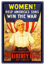Government Bonds 2nd Liberty Money Reproduction Sign 12×18