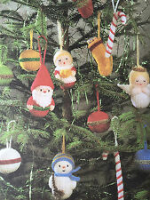 KNITTING PATTERN Jean Greenhowe 7 Christmas Tree Decorations Santa Angel RARE