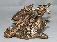 Steampunk Small Dragon Robot Figurine Statue Machine Sculpture Robotic Gear Art