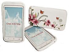Design No.5 Silikon TPU Handy Hülle Cover Case Schale Schutz  für HTC One X