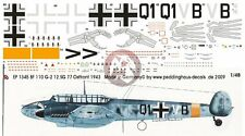 Peddinghaus 1/48 Bf 110 G-2 Totenhand Markings 12./StG 77 Russia 1943 EP1345