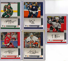 2005-06 NHL BE A PLAYER SIGNATURES AUTOGRAPH CARD LOT (5)