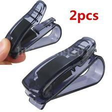 2pcs chiaro Auto Porta Occhiali da sole Carte Credito Biglietti Clip Plastica